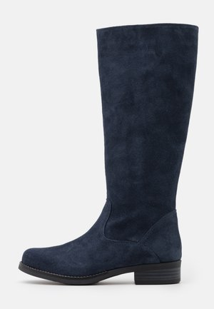 LEATHER - Stiefel - dark blue
