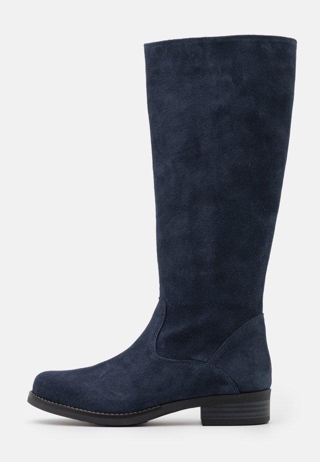 LEATHER - Stiefel - dark blue