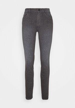 ALEXA SLIM PRINTED - Jean slim - dark grey