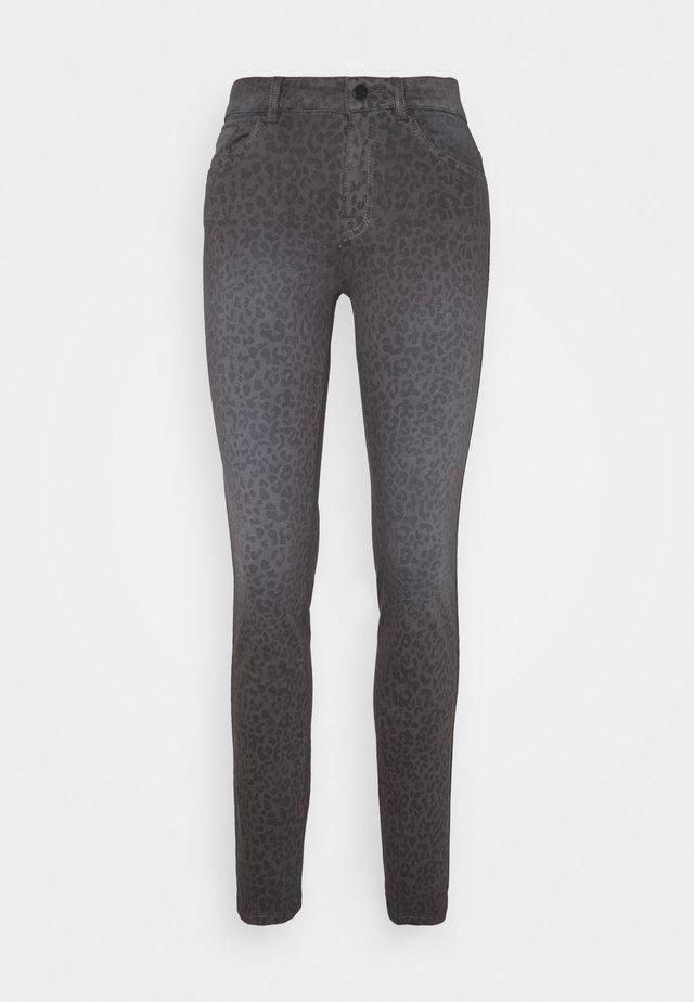 ALEXA SLIM PRINTED - Slim fit jeans - dark grey