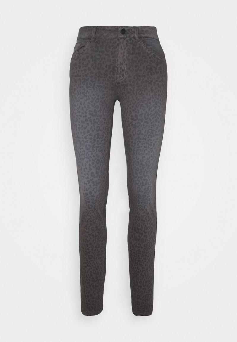 TOM TAILOR - ALEXA SLIM PRINTED - Slim fit jeans - dark grey