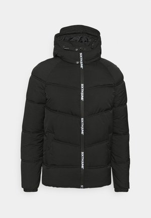 WITH BRANDED ZIPPERS - Giacca invernale - black