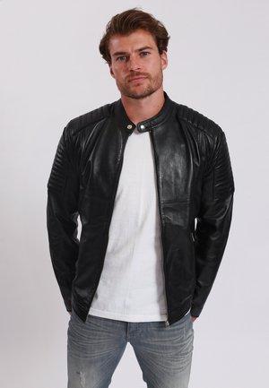 BABA - Leather jacket - black