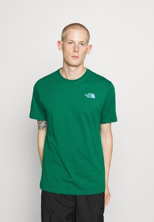 MESSAGE TEE - T-shirt z nadrukiem - green