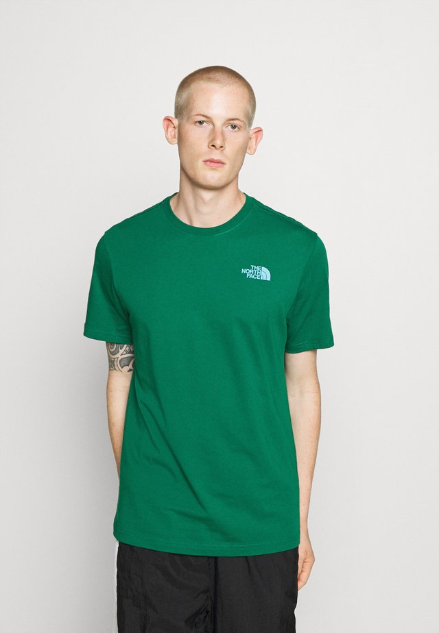 MESSAGE TEE - Print T-shirt - green