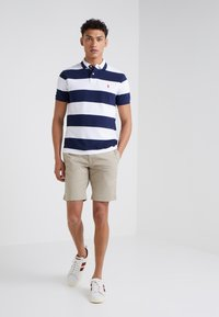 Polo Ralph Lauren - SLIM FIT - Polo shirt - white/newport navy - 1