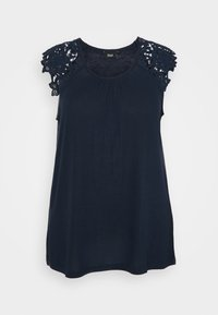 Zizzi - Print T-shirt - navy blazer - 0