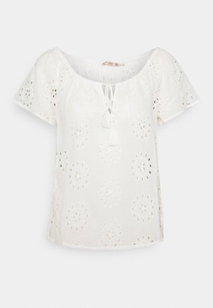 BRODERIE ANGLAISE - Bluser - off white