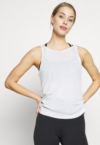 Nike Performance - YOGA RUCHE TANK - Funktionsshirt - summit white - 0
