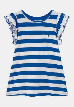 Print T-shirt - heritage blue/white