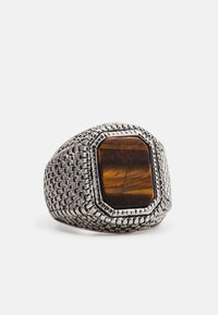 Uncommon Souls - TIGERS EYE SIGNET - Ring - silver-coloured - 2
