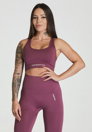ESSENTIAL SEAMLESS - Sports bra - burgundy