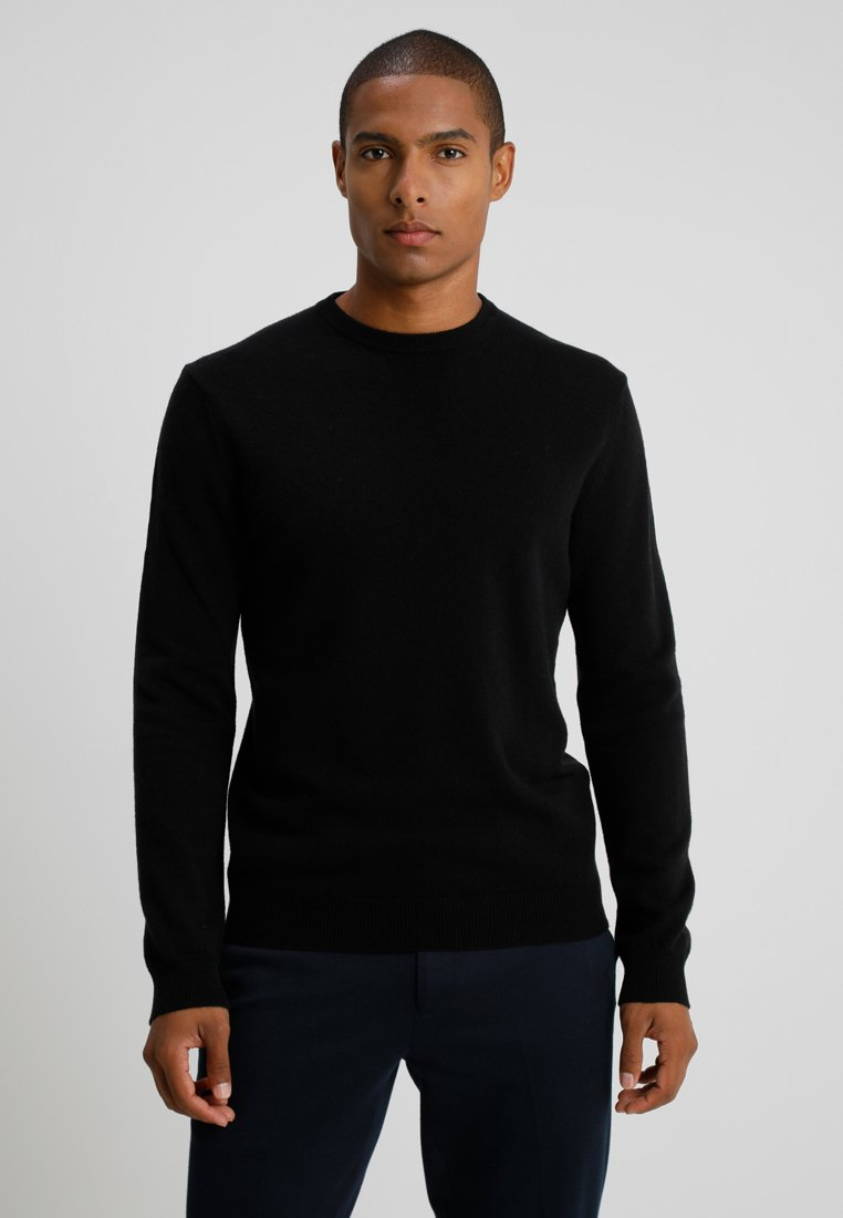 Benetton - BASIC CREWNECK - Strickpullover - black