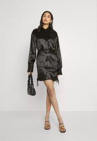 Gina Tricot - SIDNEY SHIRT DRESS - Cocktail dress / Party dress - black - 1