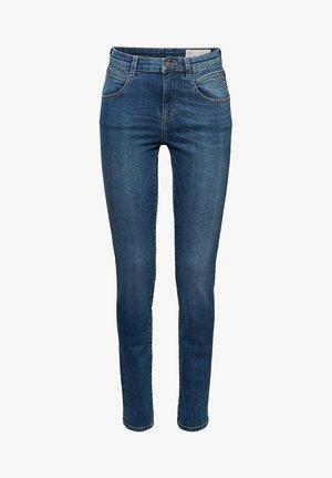MIT WASHED-EFFEKTEN - Slim fit jeans - blue medium washed
