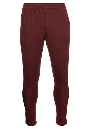 TIRO19 FT PNT - Pantalon de survêtement - collegiate burgundy melange / black