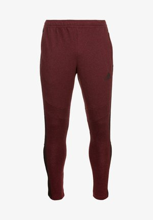 TIRO 19 PANTS - Tracksuit bottoms - collegiate burgundy melange / black