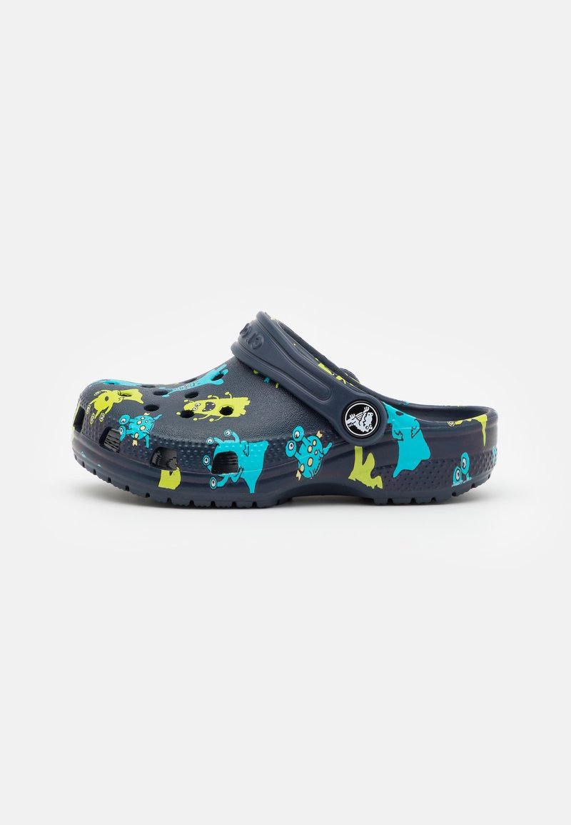 Crocs - CLASSIC MONSTER PRINT - Pantofle - navy
