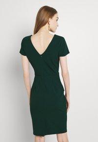 WAL G. - PEPLUM BUCKLE MIDI DRESS - Cocktail dress / Party dress - forest green - 2