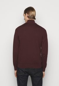 PS Paul Smith - MENS ZIP NECK ZEBRA - Jumper - dark red - 2
