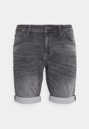 Denim shorts - mid stone grey denim