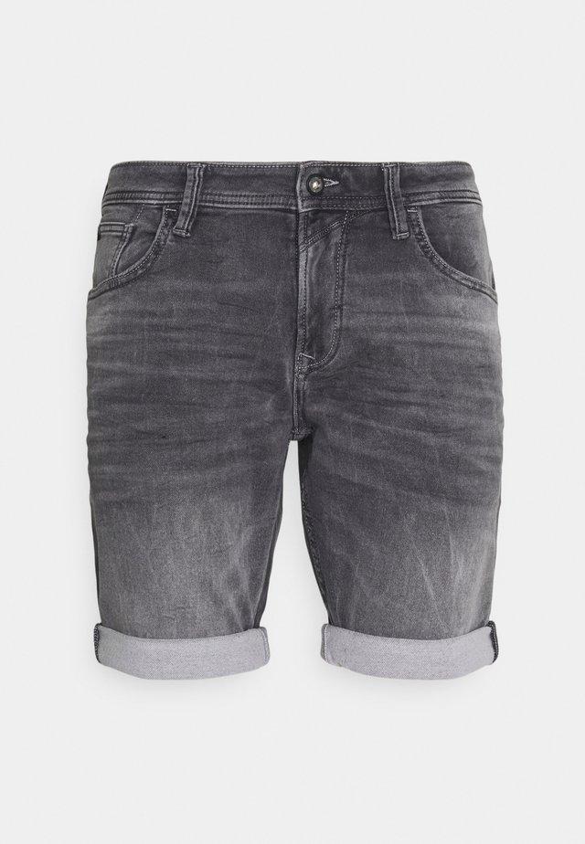 Shorts di jeans - mid stone grey denim