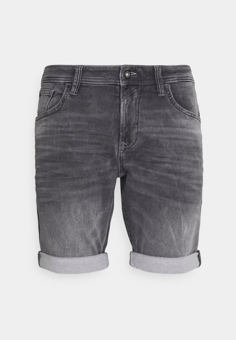 TOM TAILOR DENIM - Denim shorts - mid stone grey denim