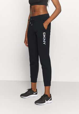 DEBOSSED LOGO JOGGER - Spodnie treningowe - black/silver