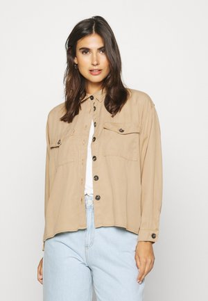 Button-down blouse - beige safari