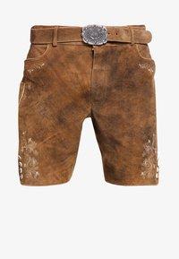 Stockerpoint - CORBI - Kožené kalhoty - havanna - 8
