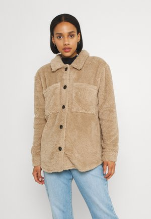 NMSUZZI JACKET - Short coat - beige