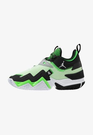 WESTBROOK ONE TAKE UNISEX - Basketball shoes - white/black/rage green