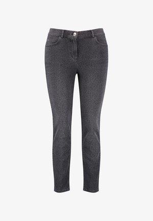 MIT LEO-PRINT - Slim fit jeans - black gemustert