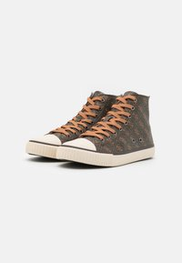 Guess - EDERLE  - High-top trainers - brown/ocra - 1