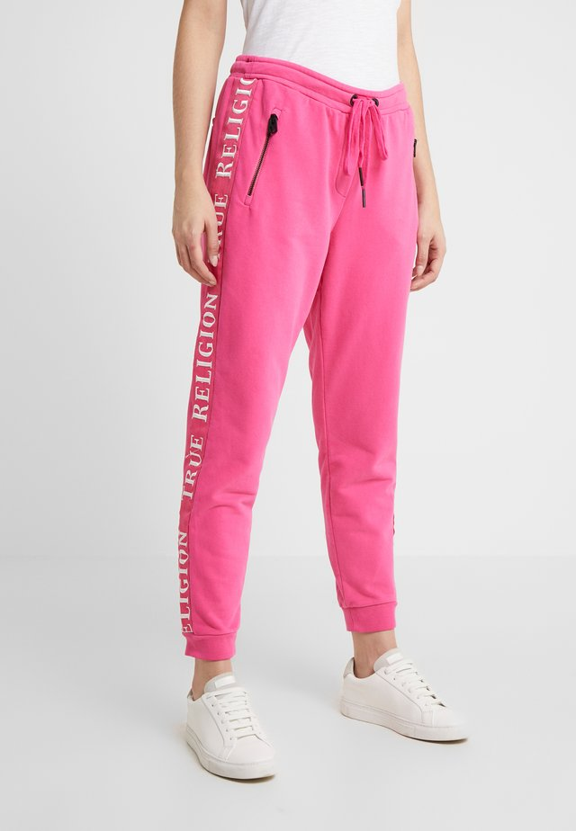 EXCLUSIVE PANT TAPE ON SIDE SEAMS - Verryttelyhousut - pink yarrow
