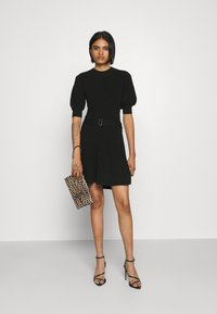 Forever New - LOUISA SHORT PUFF SLEEVE DRESS - Jumper dress - black - 1