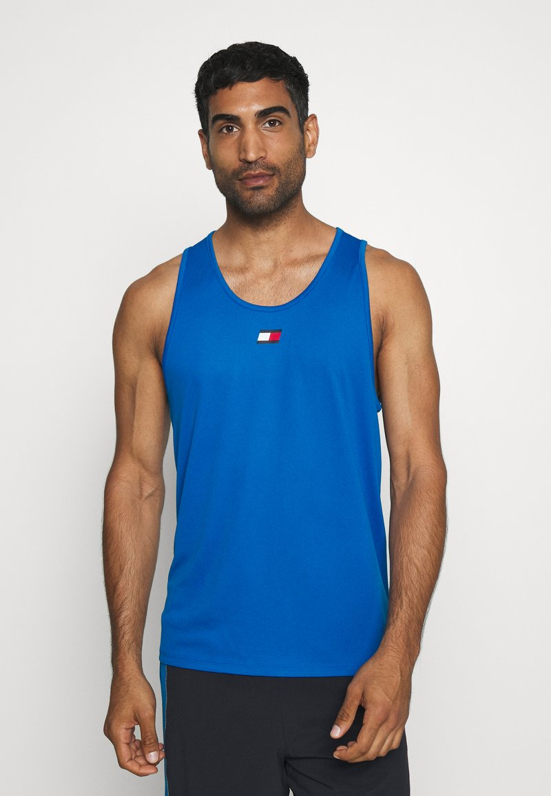 Tommy Hilfiger - TRAINING TANK LOGO - Sports shirt - blue