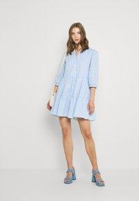 Forever New - GINA GINGHAM SMOCK DRESS - Shirt dress - pale blue - 1