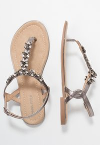 Anna Field - T-bar sandals - gunmetall - 3
