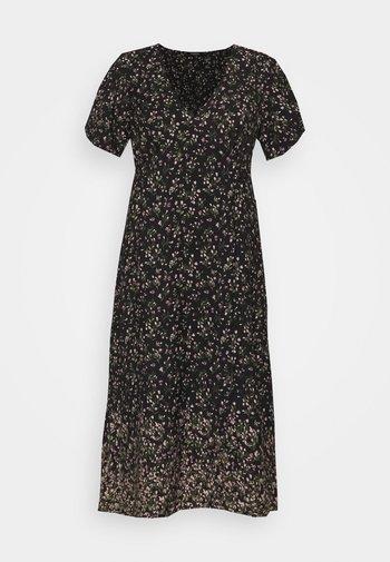 JACQUARD SPOT TRAPEZE MAXI DRESS - Sukienka letnia - black floral