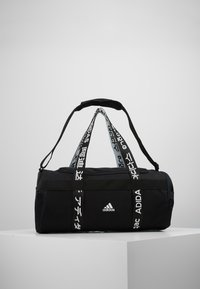 adidas Performance - ESSENTIALS 3 STRIPES SPORT DUFFEL BAG UNISEX - Sports bag - black/white - 0