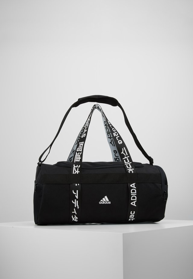 ESSENTIALS 3 STRIPES SPORT DUFFEL BAG UNISEX - Urheilukassi - black/white