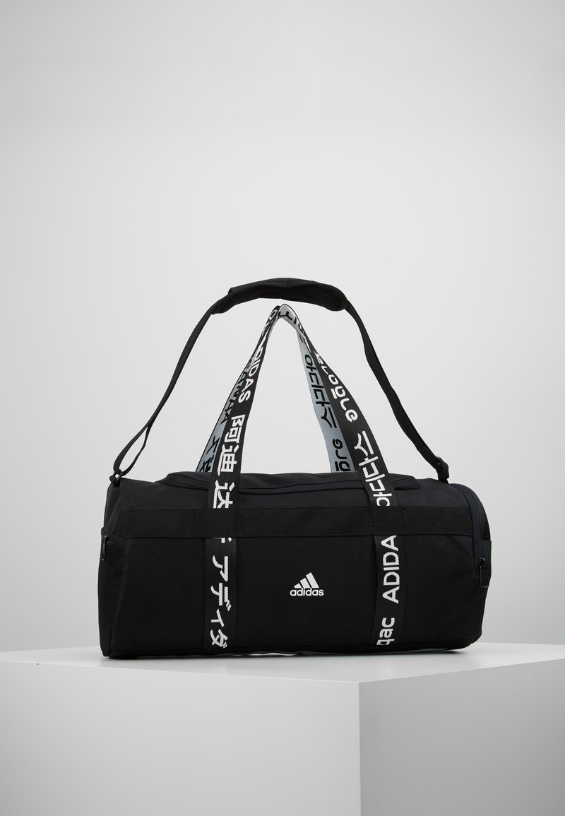 adidas Performance - ESSENTIALS 3 STRIPES SPORT DUFFEL BAG UNISEX - Sports bag - black/white