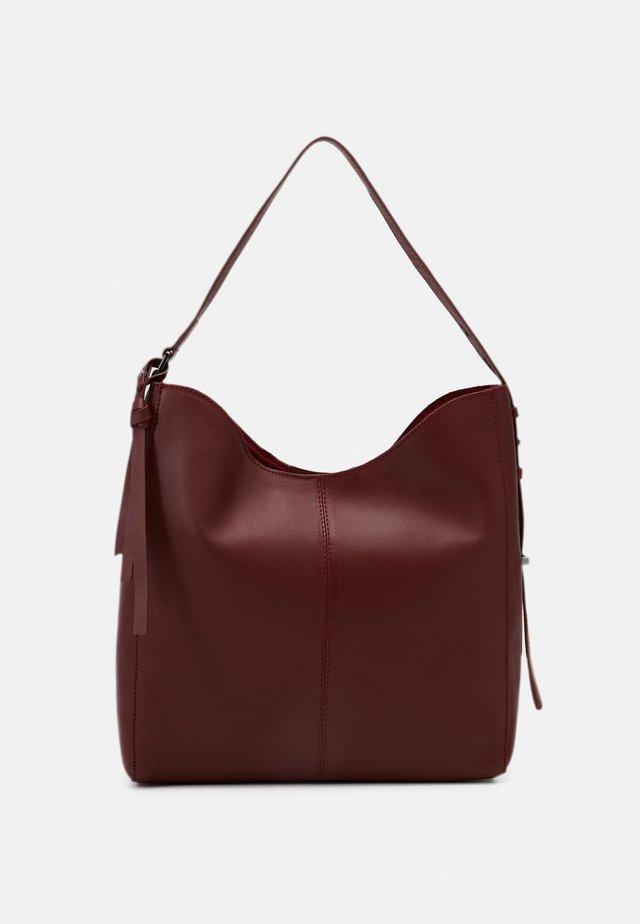LEATHER - Handbag - red