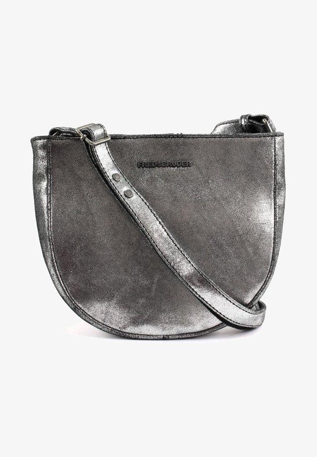 BRIGHT SAPPHIRE - Across body bag - silver