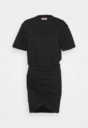 FRUIT WRAPPED DRESS - Sukienka z dżerseju - black