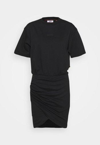 FRUIT WRAPPED DRESS - Vestido ligero - black