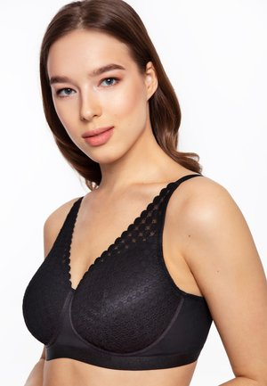 VICTRESS WIRELESS PADDED BRALETTE - Soutien-gorge triangle - black