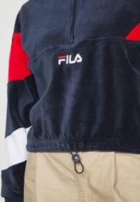 Fila - BELLINI CROPPED HALF ZIP - Sweatshirt - black iris/true red/bright white - 5