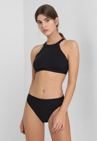 Esprit - OCEAN BEACH PADDED HIGH NECK - Bikini top - black - 1